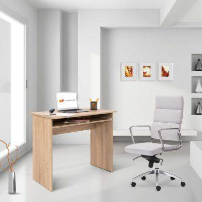 Mesa de ordenador con badeja extraible para oficina en casa o despacho COMIFORT