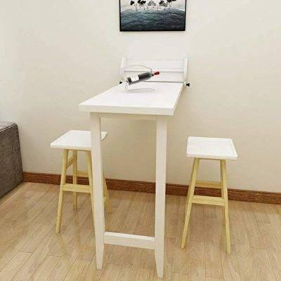 Taotao Mesa de Pared, Mesa de Comedor Plegable de Madera Maciza Mesa  Convertible de Bar para Espacios pequeños