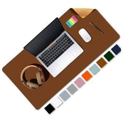 Almohadilla de escritorio de oficina de doble cara de corcho y cuero ecológico Aothia