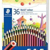 Staedtler Noris 185 CD36 Lápices Ecológicos, Caja Con36 Lápices de Colores Variados